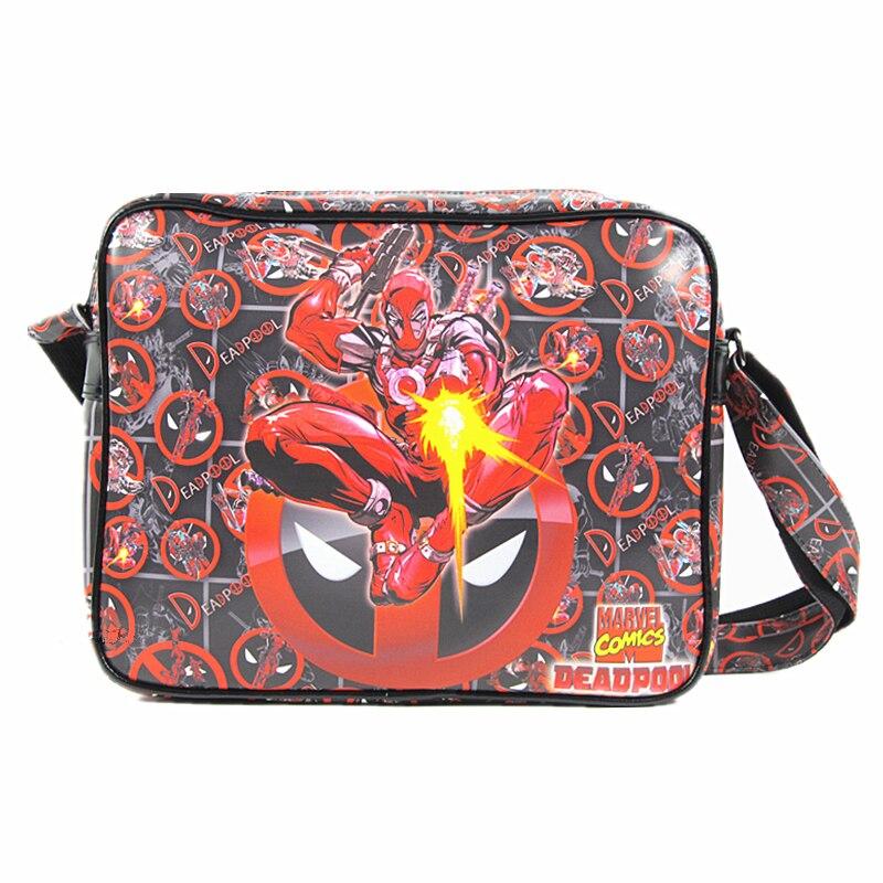 COMICS DC MARVEL Bag Deadpool Captain America Spider Man/Iron Man/ Thor/Superman/flash/Simpson PU Leather Unisex Shoulder Bags spider man deadpool vol 4 serious business
