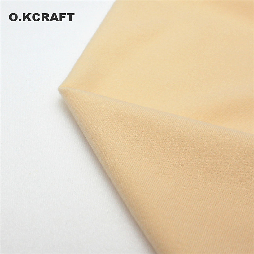 Halben Meter Licht Khaki Puppe Haut Fleece Stoff Tissu Einfarbige Plüsch Tuch für Nähen Patchwork Quilten Flesh Tissue 50*150 cm