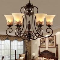 Luxurious Classical Iron Chandelier Light Living Room Bedroom Luxury Chandelier Lighting Metal Paint chandelier ceiling