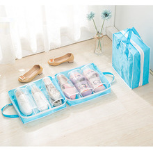 Travel Tote Zipper Pouch Dustproof Oxford Portable Folding Shoes Storage Bag Waterproof Organizer bag for shoes