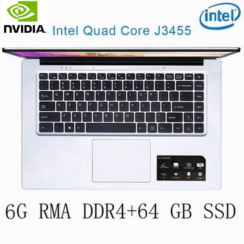 מחשב נייד P2-4 6G RAM 64G SSD Intel Celeron J3455 NVIDIA GeForce 940M מקלדת מחשב נייד גיימינג ו OS שפה זמינה עבור לבחור (1)