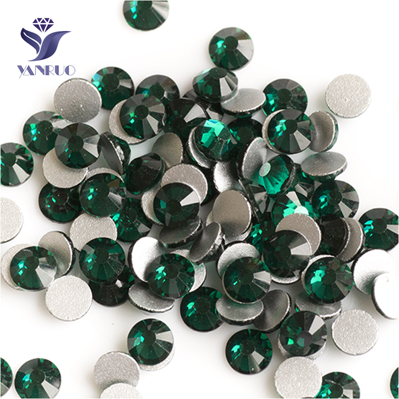 Detail Feedback Questions about YANRUO 2058NoHF SS20 Emerald 1440Pcs 3D Nail  Art Decorations Strass Non Hotfix Stones And Crystals Flat Back Rhinestone  on ... 83e41eddc433