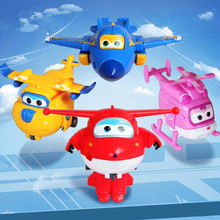 Brinquedos 4pcs set Super Wings Action Figures Toys Planes Robots CarsTransformation Toys