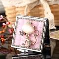 Свадьба невесты подруги поощрительный подарок, bling crystal горный хрусталь сексуальная фокс, мини красота макияж компактное карманное зеркало