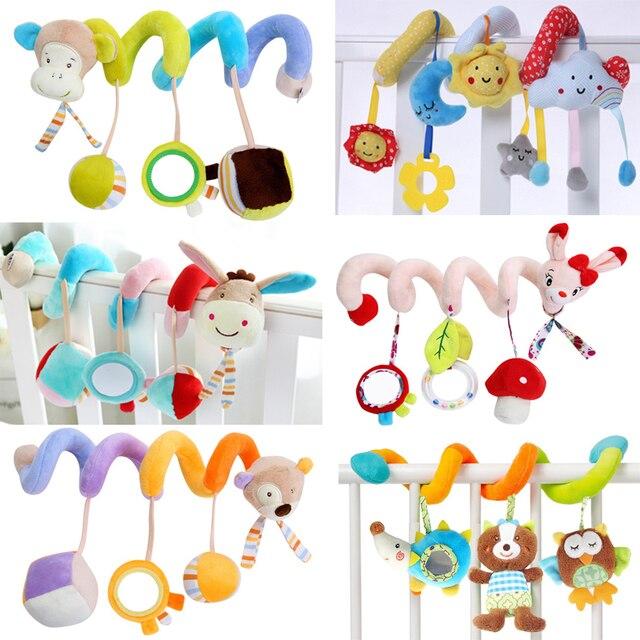 Cartoon Animal Soft Newborns Baby Toy Spiral Bed&Stroller Car Seat ...