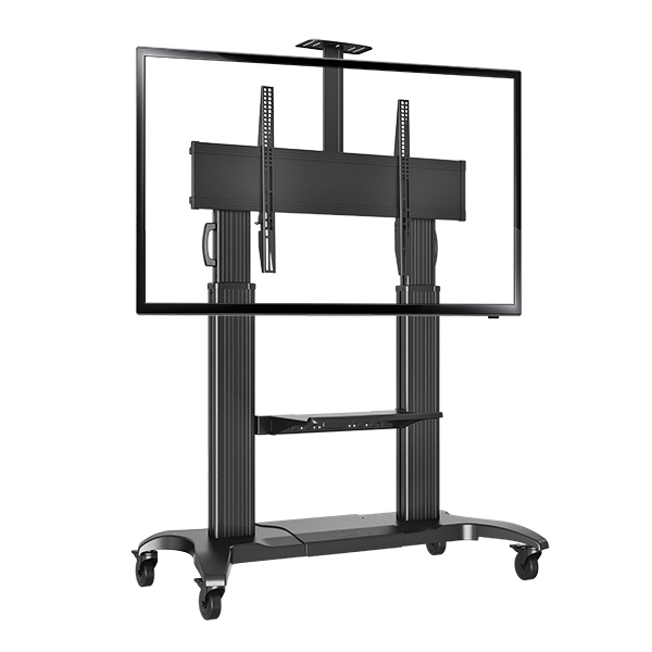 nb cf100 luxury heavy duty aluminum 60 100inch led lcd tv mobile cart free lifting and extension. Black Bedroom Furniture Sets. Home Design Ideas
