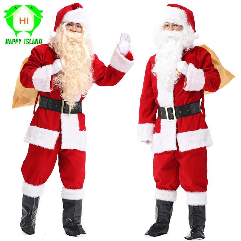 SANTA CLAUS TUXEDO SUIT CHRISTMAS ADULT MENS COSTUME
