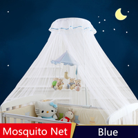Blue Pink Baby Canopy Mosquito Nets,Folding Baby Crib Mosquito Netting,Infant Bed Crib Mosquito Net,Canopy Beds Kids,Insect Mesh