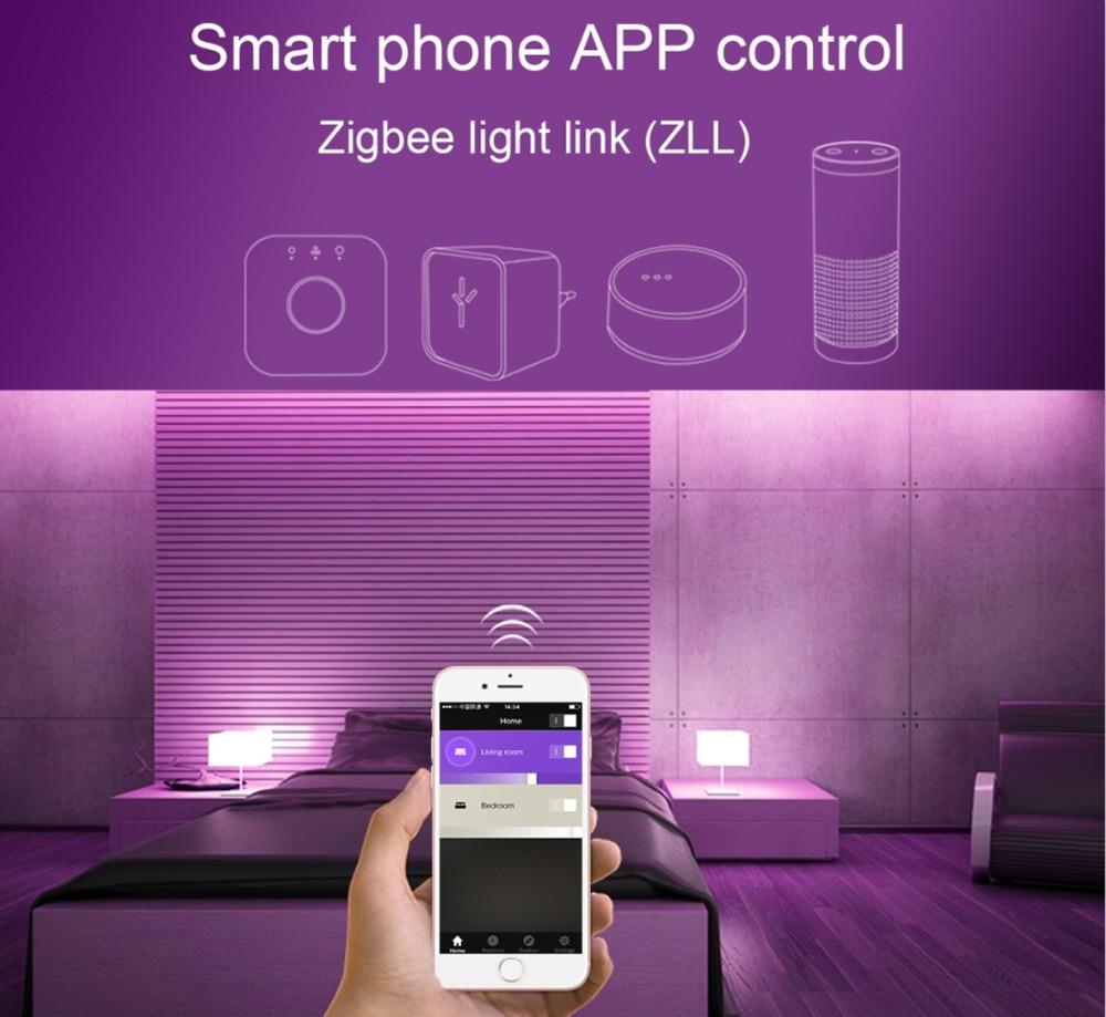 k led spotlight zigbee 3.0 trabalho com amazon alexa echo puls