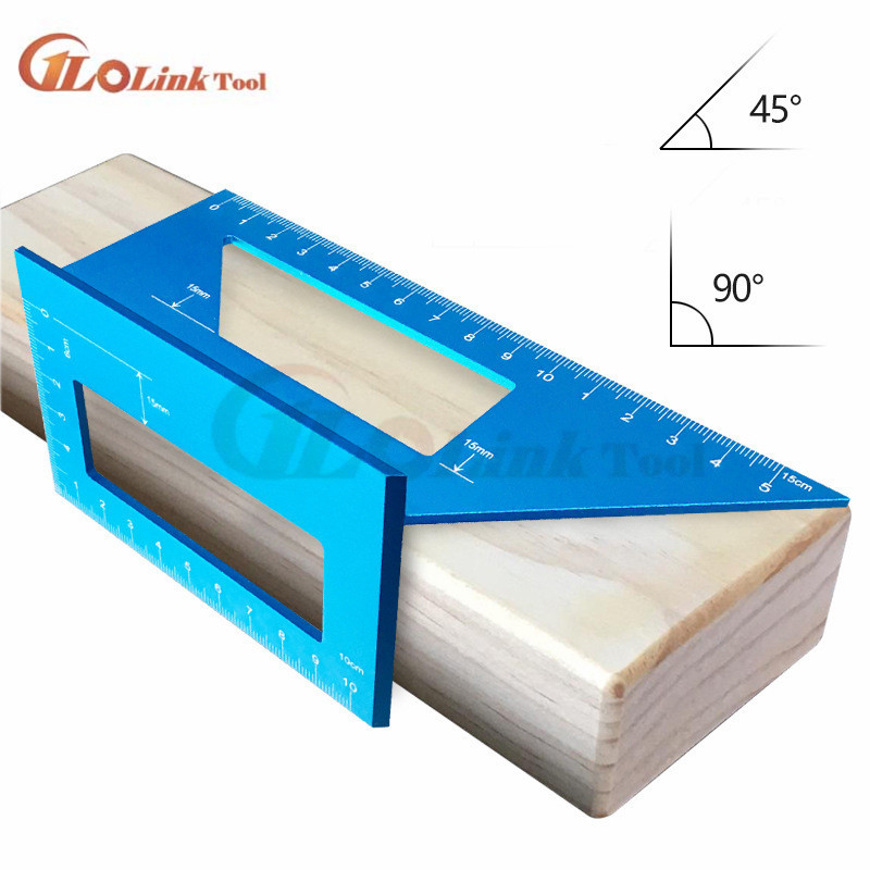 High Quality Wood Tool Japanese Aluminum Alloy Woodworking Multifunctional Square 45 Degrees 90 Degrees Gauge Ruler|Calipers|   - AliExpress