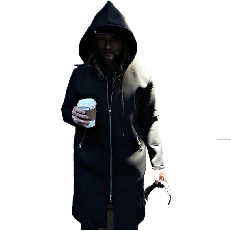 Nouveau hommes Hip Hop sweat longue fermeture éclair prolongé Tyga sweat Kanye West vêtements à capuche hommes manteau Streetwear Assassin à capuche