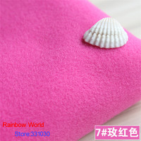 7 Rose 1 Meter One Side Brushed Imitation Woolen Garment Fabric For DIY Colthes Overcoat Skirt