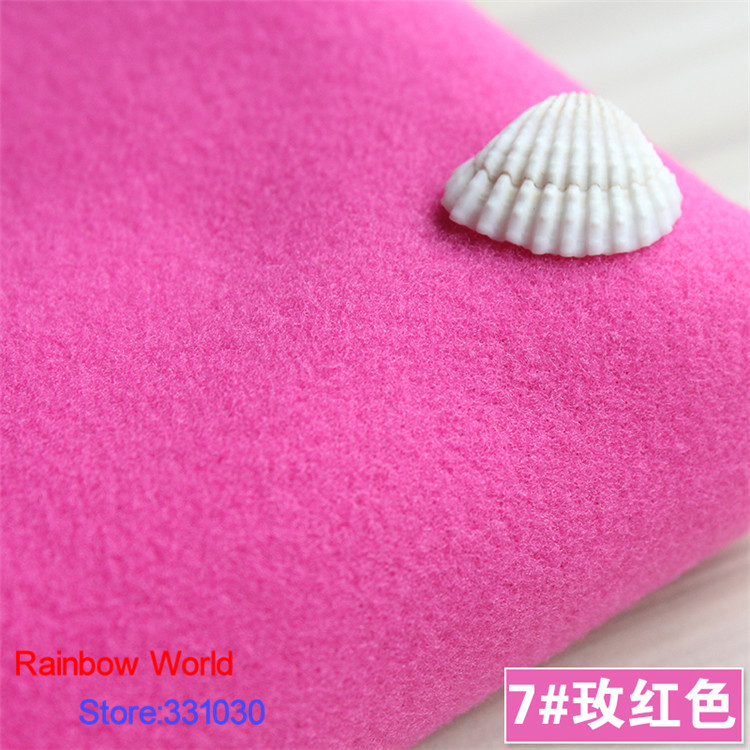 7# rose 1 meter one side brushed Imitation woolen garment fabric for DIY colthes overcoa ...