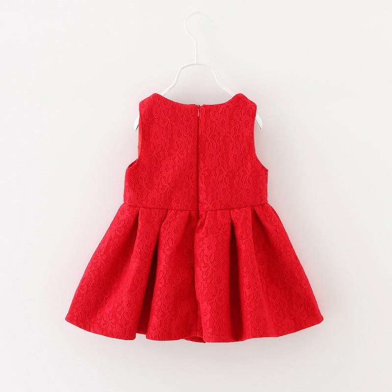 2016 Toddler Girl red Dress Baby Girls Princess