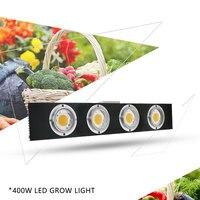 Dimmable CREE CXB3590 400 W COB LED crece la luz de espectro completo 45000LM = HPS 600 W creciente lámpara de planta de interior el Panel de iluminación