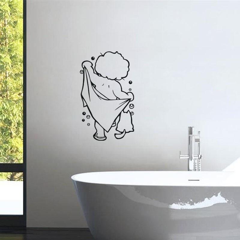 Badkamer Stickers Mooie Baby Liefde Douche Muurstickers Leuke ...