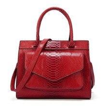 Women Famous Serpentine Handbags Fashion Ladies PU Leather Large Capacity Tote Bags Casual Female TOP-Handle Shoulder Bag 2019 цены онлайн