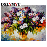 diamond embroidery mosaic diy 3d diamond painting flowers picture cross stitch Small chrysanthemum patterns