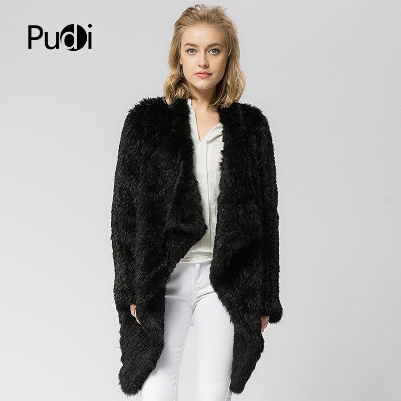 Femmes grey Black Veste Cr021knitted Fourrure D'hiver Pardessus Couleur Manteau Véritable Réel Knit Gris cream Lapin De Russe Épais Chaud AUqACfwp