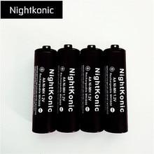 ФОТО 8 pcs/lot aa battery  nightkonic 1.2v ni-mh aa rechargeable battery black