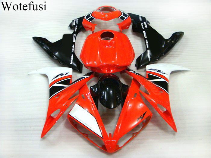 Wotefusi Bodywork Motorcycle Fairing Injection Mold For 2004 2005 2006 YAMAHA YZF1000 R1 04-06 05(1)  [CK811] mfs motor motorcycle part front rear brake discs rotor for yamaha yzf r6 2003 2004 2005 yzfr6 03 04 05 gold