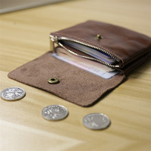 Ladies Genuine Leather Small Wallet Women Coin Bag Men