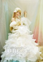 Chobits Eruda Chii Cosplay Costume Halloween Wedding Dress Party Dress Custom