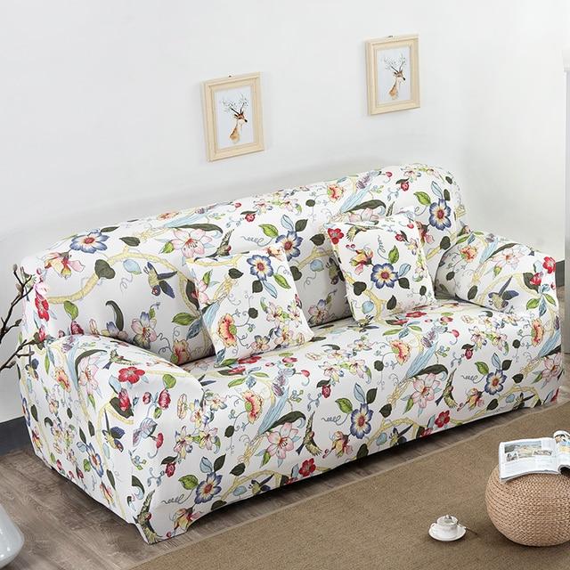 A buon mercato couch copertura con fiori pattren 100% poliestere ...