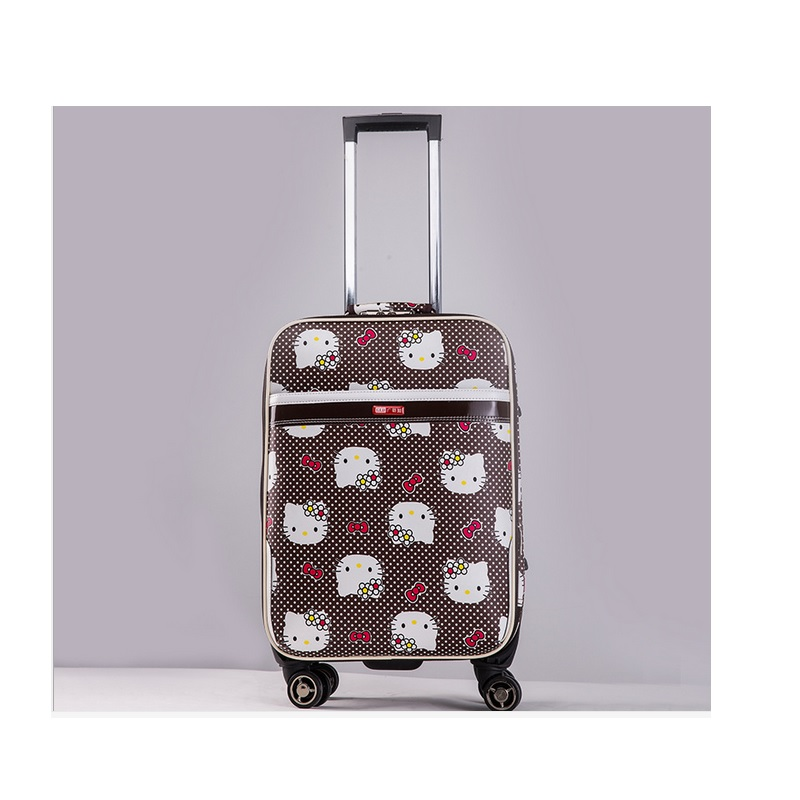 NEW 20 inch Hello kitty Spinner travel Luggage suitcase sets kids student women trolleys rolling luggage EMS/DHL free shipping цена 2017