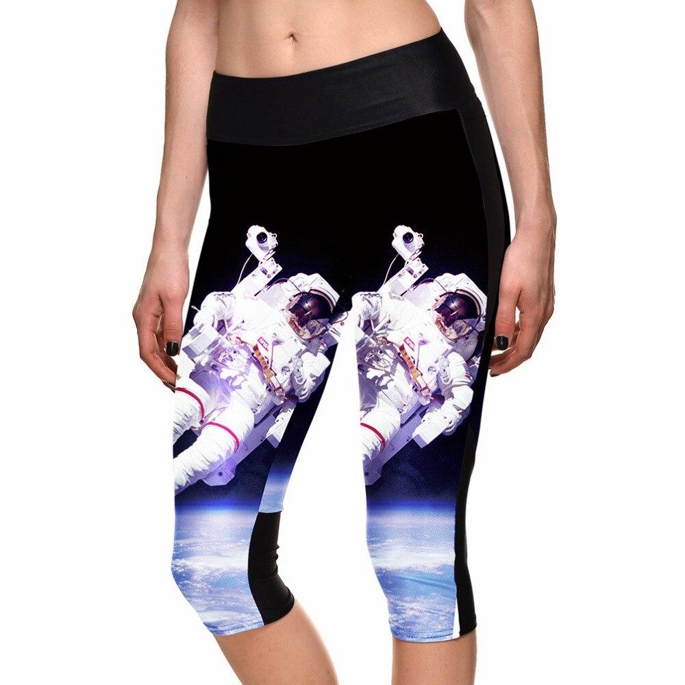 2015 Marke Leggings Raumdruckraumfahrer Digitaldruck Schlank Jeggings Frauen Mode Fitness Hosen Legging Neueste Technik