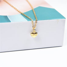 ZCHLGR Fashion Tiny Dainty Heart Initial Necklace Personalized Letter Jewelry for women accessories girlfriend gift