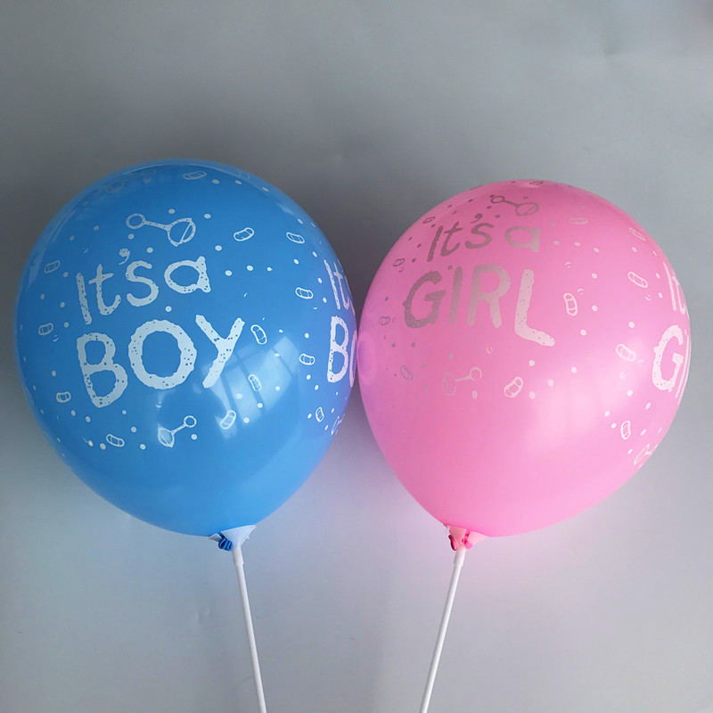 10pcs/lot 12Inch Its a Girl Boy Latex Balloons for Baby Birthday Party Decorations Shower Favors