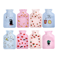 Mini Cartoon Hot Water Bag Bottle Container Handy PVC Water-filled Type Warm Hand Treasure Lovely Filled Warming