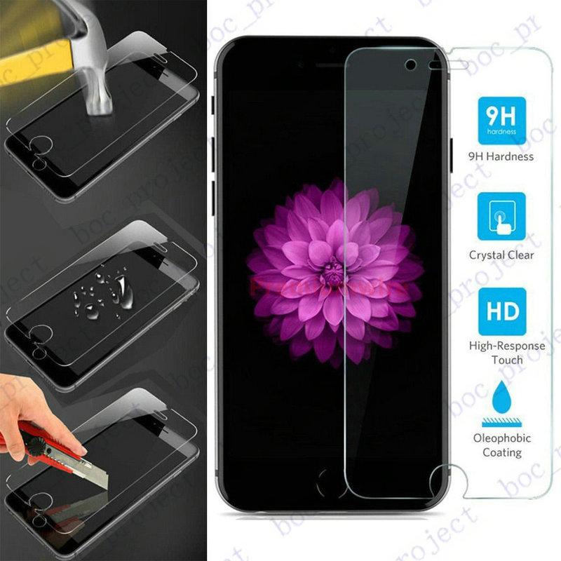 imágenes para 2017 9 h 0.26mm ultrafino templado superior de cristal protector de pantalla para iphone 7 7 pus 6 s más 6 s 6 5S 5 4S 4 200 unids no paquete