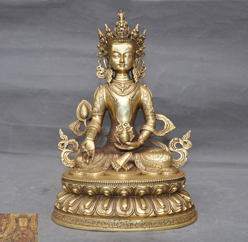 wedding decoration Tibetan Buddhism brass copper Nepal Amitayus longevity God Goddess Buddha Statue New Yearwedding decoration Tibetan Buddhism brass copper Nepal Amitayus longevity God Goddess Buddha Statue New Year