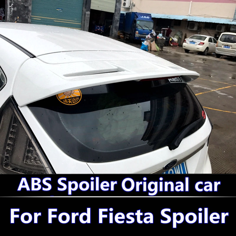 For Ford Fiesta 2009-2017 Spoiler High Quality ABS Material Car Rear Wing Primer Color Rear Spoiler For Fiesta Hatchback Spoiler for audi a3 high quality abs material car rear wing primer color audi a3 hatchback rear spoiler for audi a3 spoiler 2014 2017