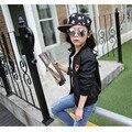 Adolescente Niñas de Béisbol Chaquetas Primavera Otoño 2016 Nuevas Muchachas de Los Cabritos Hoodies Niñas Sudadera Deportes Top Girls Modelada Capa