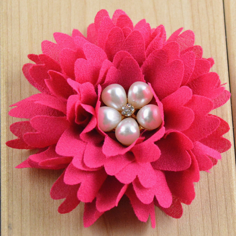 Wholesale 3 15 Soft Fabric flowers For girls Boutique Hair Accessories Clothing Hat 200pcs lot Free