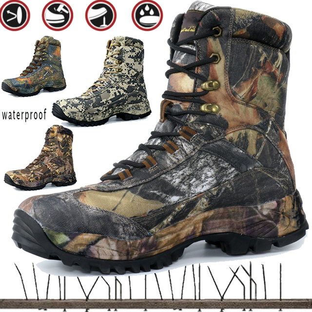 CUNGE Outdoor Tactical Sport Men's Shoes For Camping Climbing boots Men Hiking Boots Mountain Non-slip waterproof hunting boots