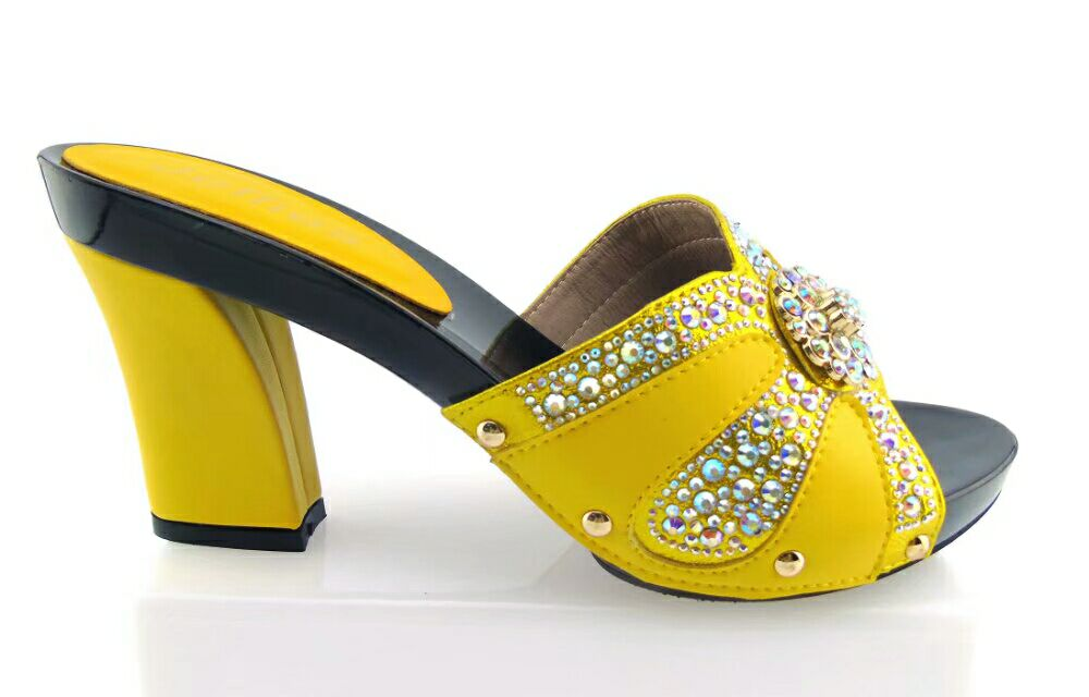 doershow New arrival colorful rhinestones design ladies pumps African sandal shoes for party yellow, size 37-43!HTX1-16 doershow new coming purple design african sandal shoes with shinning stones for fashion lady free shipping jk1 36