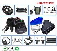 Free shipping Bafang BBSHD 48V 1000W mid crank motor kits with Li ion 48V 30Ah triangle battery pack for fat tire bike