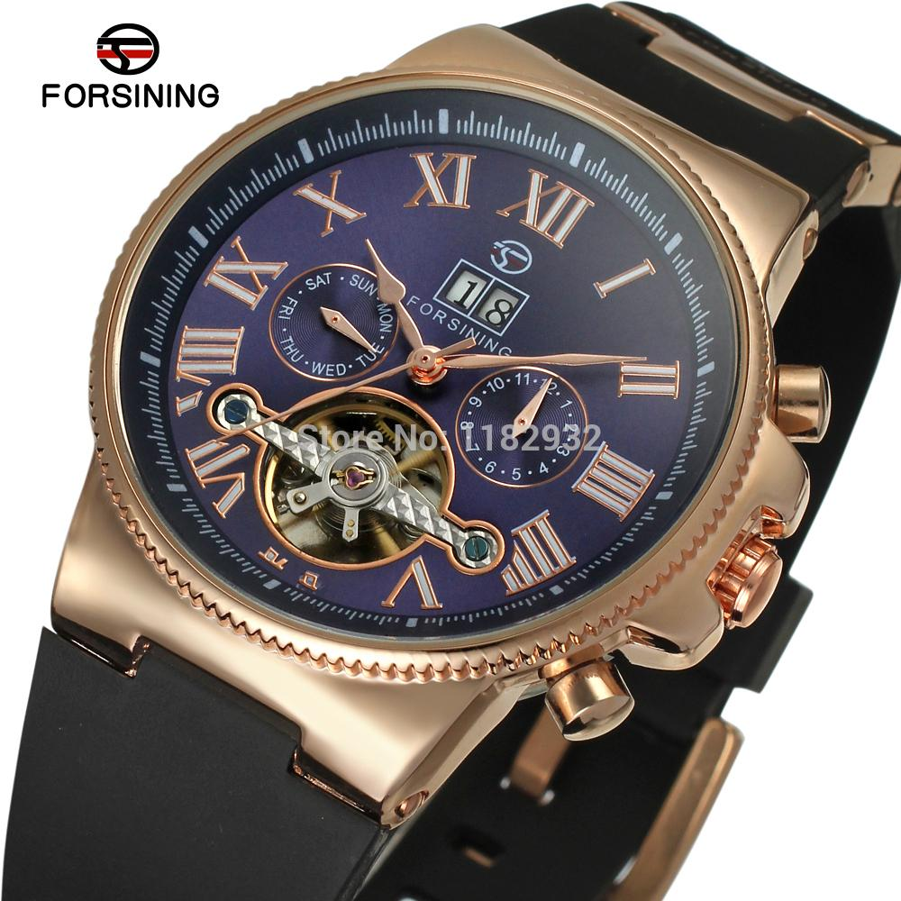 2015 Forsining FSG2373M3R3 Automatic men rose gold watch