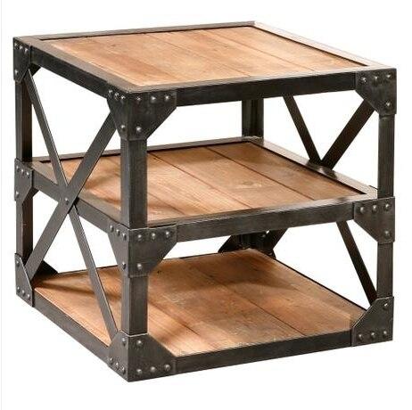 pays damrique fer forg bois meuble dangle bibliothque side coin un