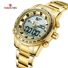 Brand Luxury Waterproof Military Sport Watches Men Gold Steel Digital Analog Quartz Business Wristwatch Clock Relogios Masculino(China)