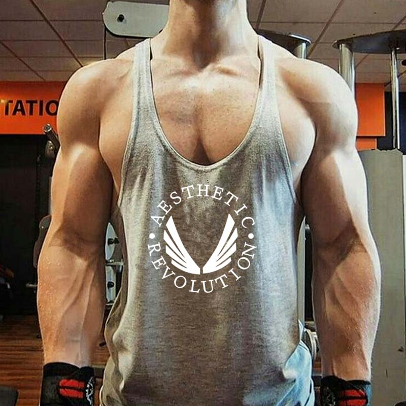 Hot Sale Men Boys Casual Revolution Printing Tank Top Vest Bodybuilding Stringer Vest Male Special Offer Summer Modern Trend