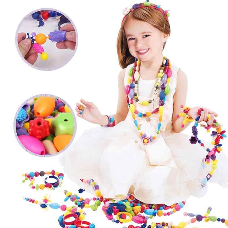 Neue Pop Perlen Spielzeug Snap Zusammen Schmuck Mode Kit DIY Pädagogisches Kinder Handwerk Geschenke Für Mädchen reborn spielzeug freies verschiffen GYH