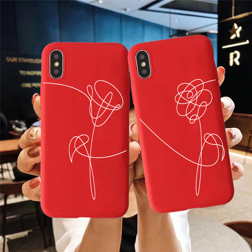 Love Yourself Flower Colored Soft Silicone Phone Case For Iphone 6/6s, 6Plus/6SPlus,