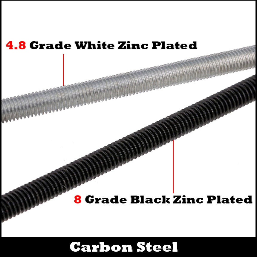 M6 200mm 250mm M6*200/250 M6x200/250 4.8 Grade White Zinc Plated Carbon Steel DIN975 Full Metric Thread Bolt Shaft Rod Bar Stud m4 m5 m6 m4 250 m4x250 m5 250 m5x250 m6 250 m6x250 304 stainless steel 304ss din975 bolt full metric thread bar studding rod