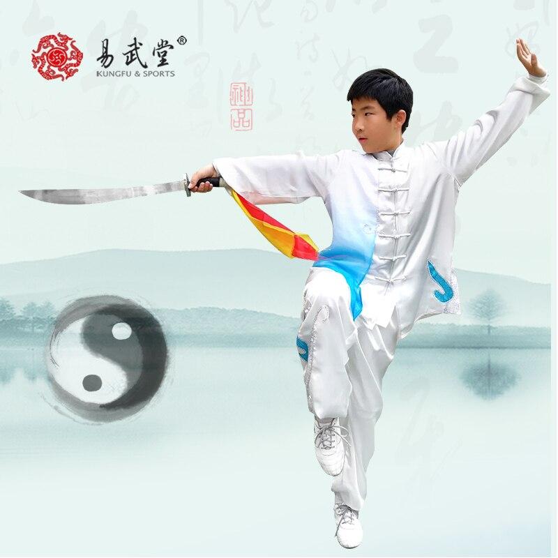 Costume Wushu qualité parfaite uniforme Tai chi Kung Fu et uniforme d'art Martial pour hommes et femmes et enfants