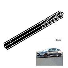 Car Decor Racing Stripe diy car Sticker Side Body Stickers Vinyl Decals Waterproof Auto